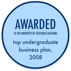 Awarded Top Undergraduate Business Plan, 2008 by the University of Southern California